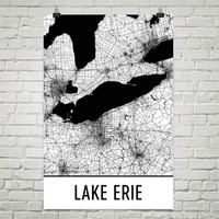 Lake Erie Art and Maps