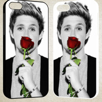 Cute Niall Horan with rose F0161 iPhone 4S 5S 5C 6 6Plus, iPod 4 5, LG G2 G3, Sony Z2 Case