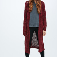 Pins & Needles Maxi Knit Cardigan in Red - Urban Outfitters