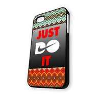 Aztec Motife Nike Just Doit 2 iPhone 4/4S Case