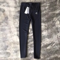 Calvin Klein Women Fashion Leggings Elastic Pants Trousers
