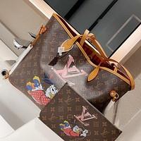 Louis Vuitton LV new popular all-match handbag fashion printing tote bag single shoulder bag