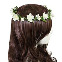 Flower Headband Garland Crown Festival Wedding Hair Wreath BOHO Floral Headband