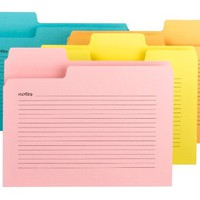 Smead Super Tab Notes File Folder, Oversized 1/3-Cut Tabs, Letter Size, Assorted Colors, 12 per Pack (11650)