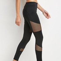 Mesh Insert Athletic Leggings