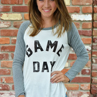 Game Day Top ~ White