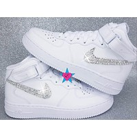 SALE- Custom Rhinestone Crystal Nike Air Force 1s