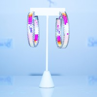 Iridescent Pastel Disco Hoops