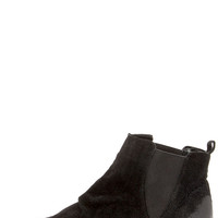 Coconuts Lee Black Suede Ankle Boots