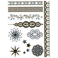 Filigree/Sun Metallic Temporary Tattoos Gold One Size For Women 25704044201