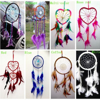 "Dream Catcher with feathers wall hanging Home Car decoration ornament -16"" Long Windmill Wind Bell various colors = 1704275652"