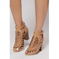 Before Sundown Strappy Heels (Dark Sand)