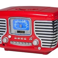 Crosley Corsair Alarm Clock - Available in Red or Black