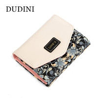 New Arrived Flowers Printing Wallet Fashion Hit Color Clutch Purse Ladies Coin And Money Card Holder