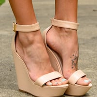 The Maria Wedge, Beige