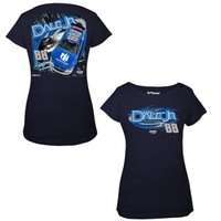 Womens Dale Earnhardt Jr. Chase Authentics Navy Blue Nationwide Fabricator T-Shirt