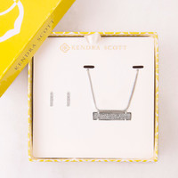 Kendra Scott Jon & Leanor Platinum Drusy Gift Set Necklace & Earrings