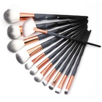 AiceBeu 7/10/12pcs diamond Makeup Brushes Set Black Macarons color Facial Foundation Cosmetic Makeup Brush Kit