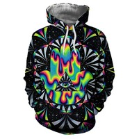 Trippy hamsa Printed 3d Hoodies Men Hoodie Autumn Sweatshirts Unisex Pullovers Novelty Outwear Jackets Male Brand Coat