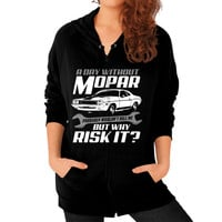 A DAY WITHOUT MOPAR Zip Hoodie (on woman)