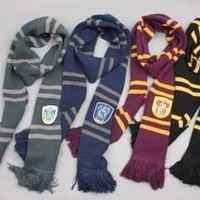 Harry Potter Gryffindor Slytherin Hufflepuff Ravenclaw House Cosplay Scarf Collections [7494028545]