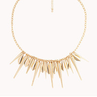 Spiked Fringe Necklace