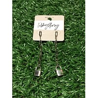 Lock Chain Dangle Earring