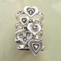 NESTING HEARTS RING SET         -                  Rings         -                  Jewelry         -                  Outlet                       | Robert Redford's Sundance Catalog