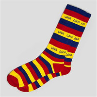 Odd Future Wolf Gang Striped Yellow/Blue/Red Socks