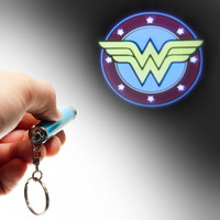 DC Comics Wonder Woman Logo Flashlight Keychain