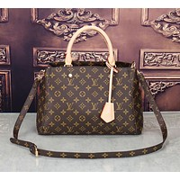"""Louis Vuitton"" Women's fashion simple old flower single shoulder handbag slung big bag 3#"