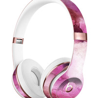 Pink 72 Absorbed Watercolor Texture Full-Body Skin Kit for the Beats by Dre Solo 3 Wireless Headphones
