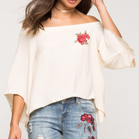 Rose Love Off Shoulder Top