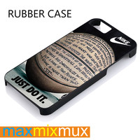 Nike Basketball Just Do It And Passion iPhone 4/4S, 5/5S, 5C, 6/6 Plus Series Rubber Case