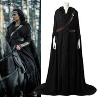 Wonder Woman Cosplay Cloak Black Adult Women Customized  Stylish, Sexy and Warm in the Wind
