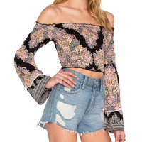 Off the Shoulder Crop Top by Band of Gypsies