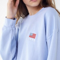 1995 American Flag Pullover Sweatshirt | Urban Outfitters