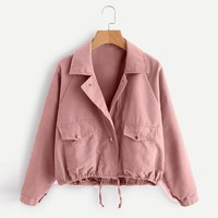 Women Retro female Jacket Zipper Bomber Collar Slim Coat Casual Outwear Female Autumn Spring Jacket Ladies chaqueta mujer