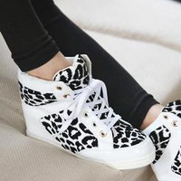 White lace up high top from 2NDAPRIL