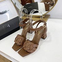 ysl women casual shoes boots fashionable casual leather women heels sandal shoes 231