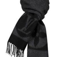NEW LOUIS VUITTON LV Cardiff Scarf M72202 Lambswool Wool Angora AUTHENTIC Rare