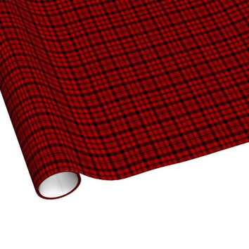 Red and Green Plaid Christmas Wrapping Paper
