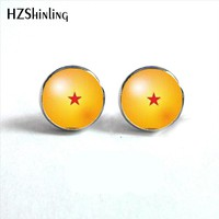 NES-0079  Dragon Ball z 5 Stud Earrings Dragon Ball Earring Anime Jewelry Glass Dome Earrings For Men Gifts HZ4