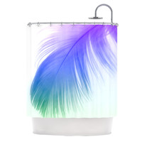 KESS InHouse Feather Polyester Shower Curtain