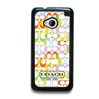 COACH NEW YORK COLORFUL HTC One M7 Case Cover
