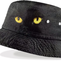Black Cat Bucket Hat created by ErikaKaisersot | Print All Over Me