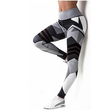 LANTECH Women Yoga Pants Sports Running Sportswear Fitness Leggings Exercise Trousers Gym Compression Printing Pants