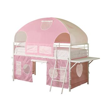 G460202 - Sweetheart Tent Loft Bed - Pink And White