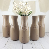 Bridal Shower Centerpiece - Wedding Vases - Bud Vase - Rustic Wedding - Shabby Chic Decor - Wedding Decor - Bridal Shower - Flower Vase