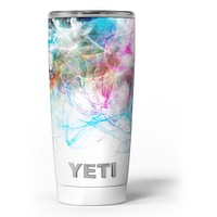 Neon Multi-Colored Paint in Water - Skin Decal Vinyl Wrap Kit compatible with the Yeti Rambler Cooler Tumbler Cups